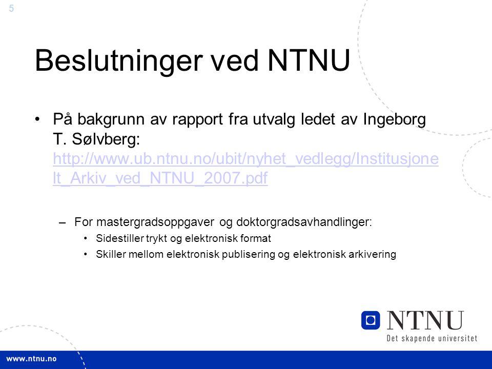 Beslutninger ved NTNU