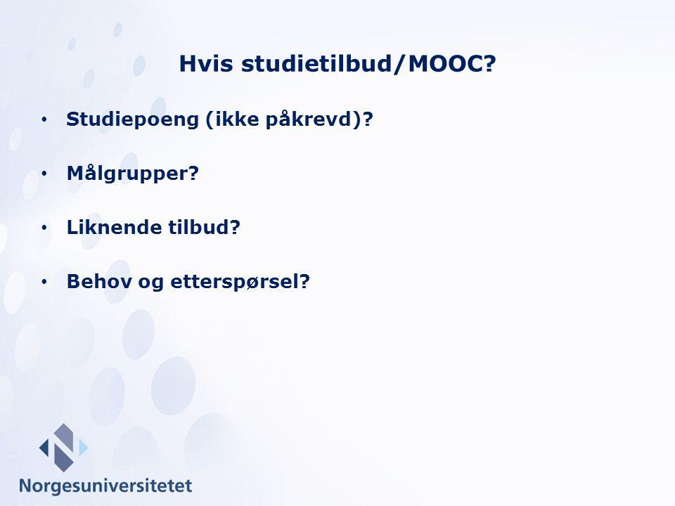 Hvis studietilbud/MOOC