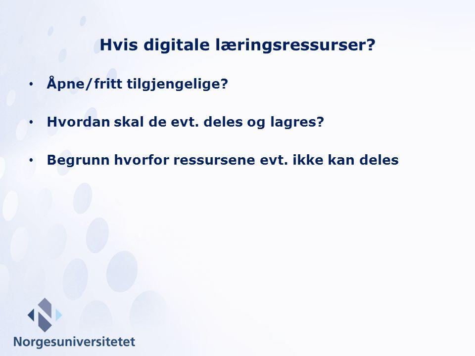 Hvis digitale læringsressurser