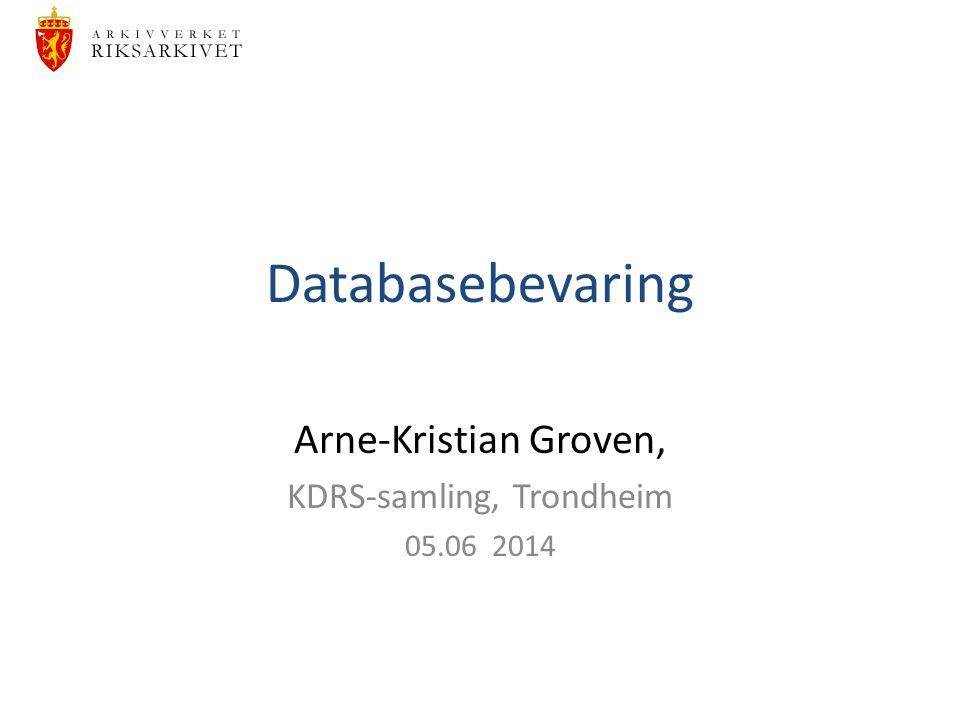 Arne-Kristian Groven, KDRS-samling, Trondheim 05.06 2014
