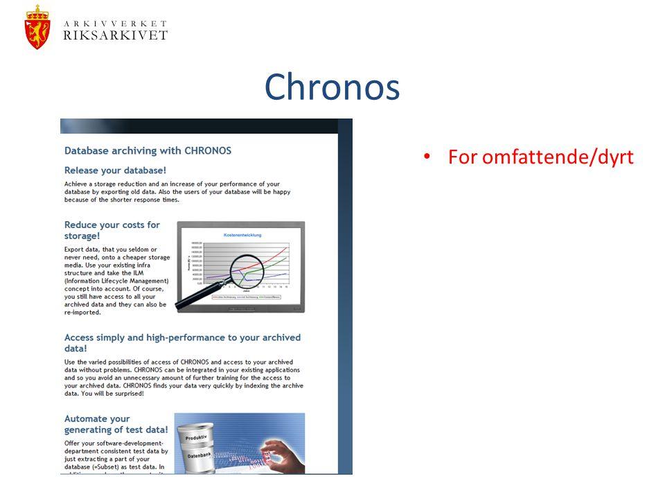 Chronos For omfattende/dyrt
