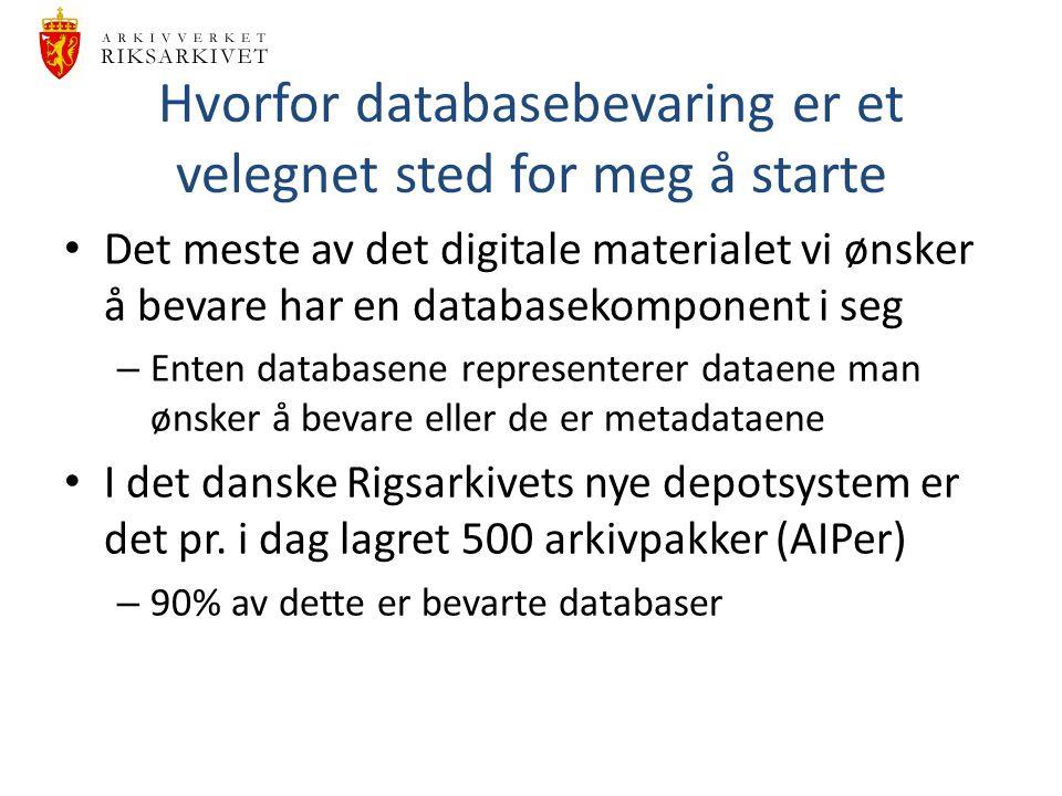 Hvorfor databasebevaring er et velegnet sted for meg å starte