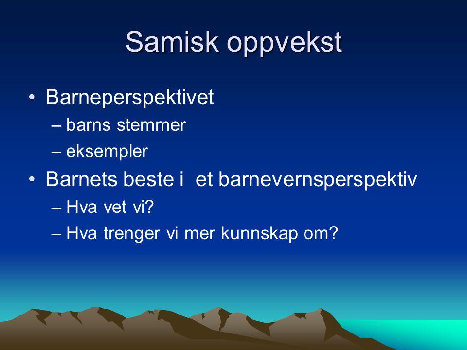 Samisk oppvekst Barneperspektivet