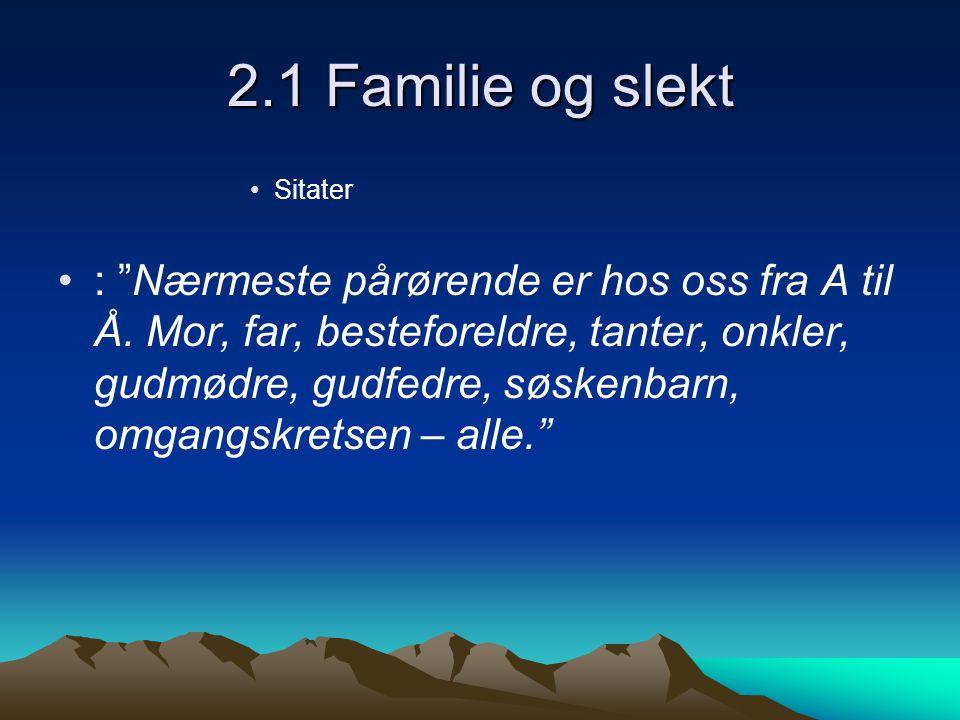 2.1 Familie og slekt Sitater.