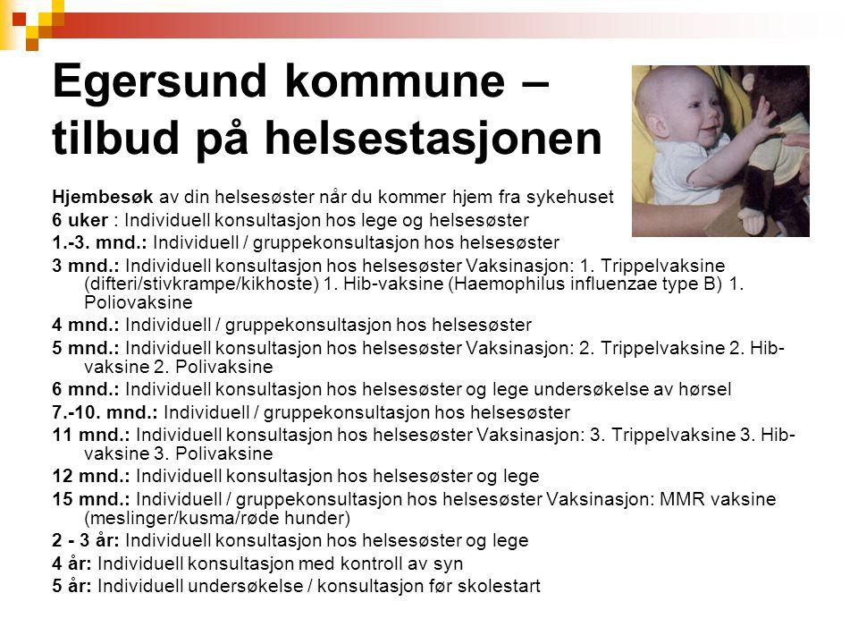 Egersund kommune – tilbud på helsestasjonen