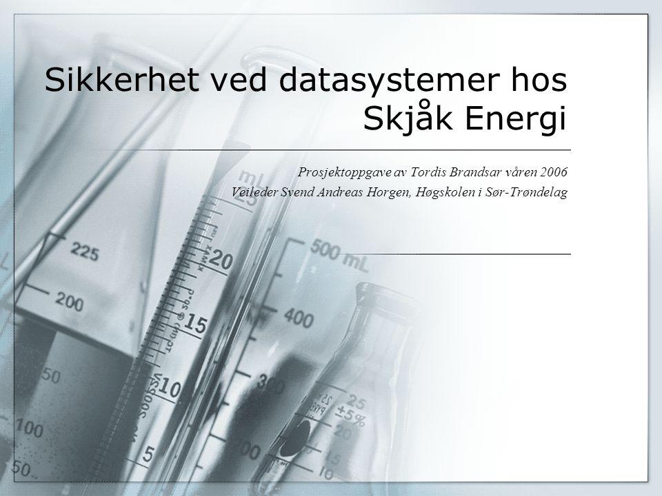 Sikkerhet ved datasystemer hos Skjåk Energi