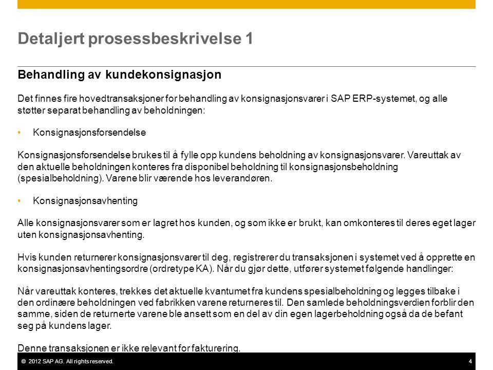Detaljert prosessbeskrivelse 1