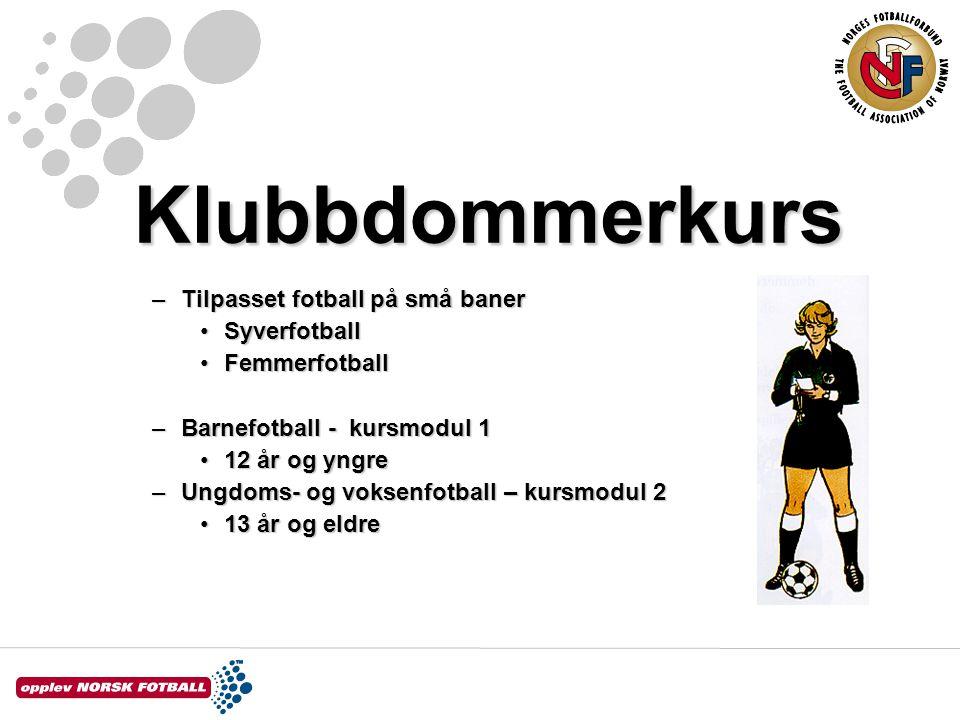 Klubbdommerkurs Tilpasset fotball på små baner Syverfotball