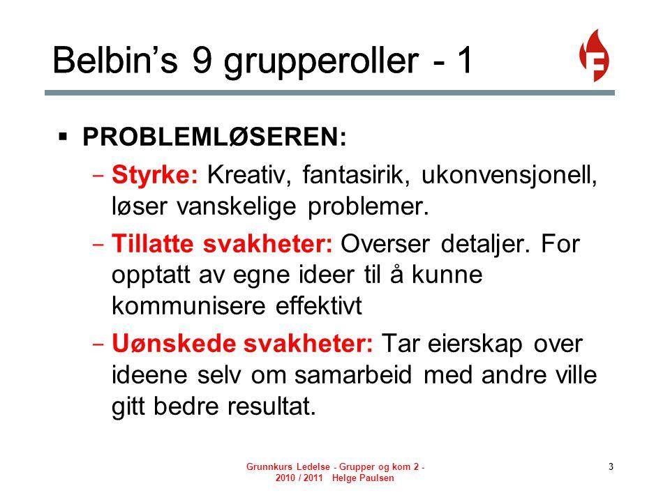 Belbin's 9 grupperoller - 1