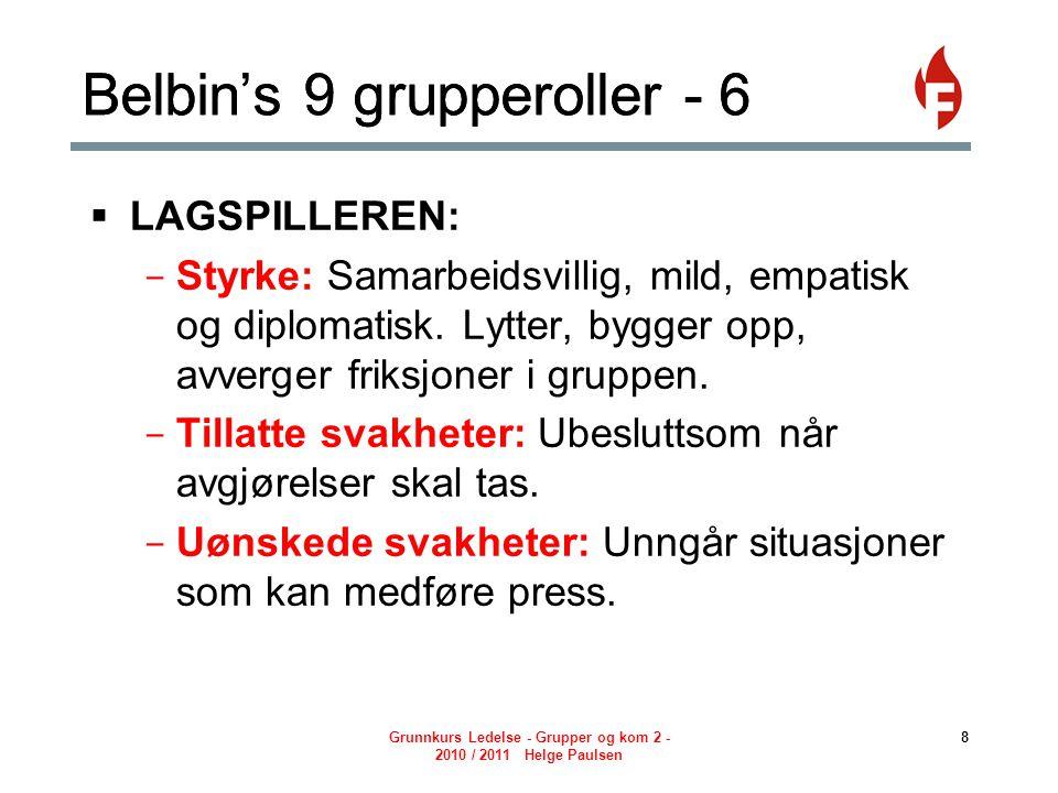 Belbin's 9 grupperoller - 6