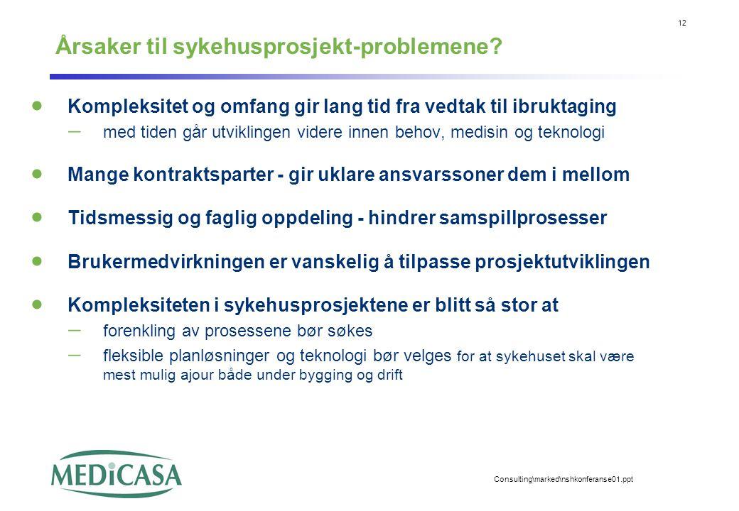 Årsaker til sykehusprosjekt-problemene
