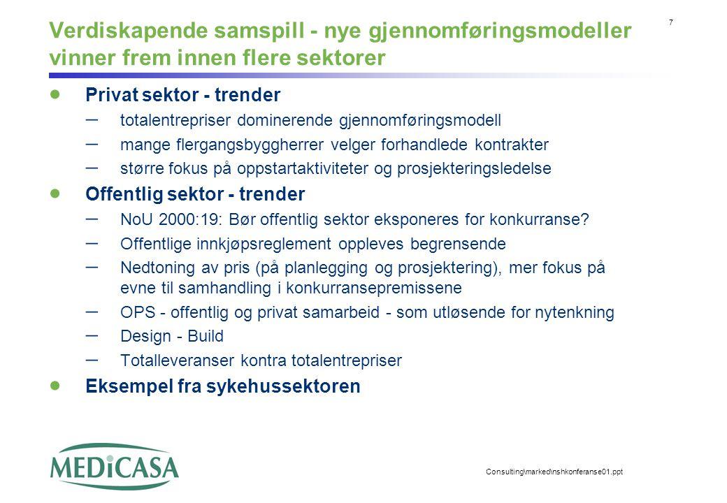 Verdiskapende samspill - nye gjennomføringsmodeller vinner frem innen flere sektorer