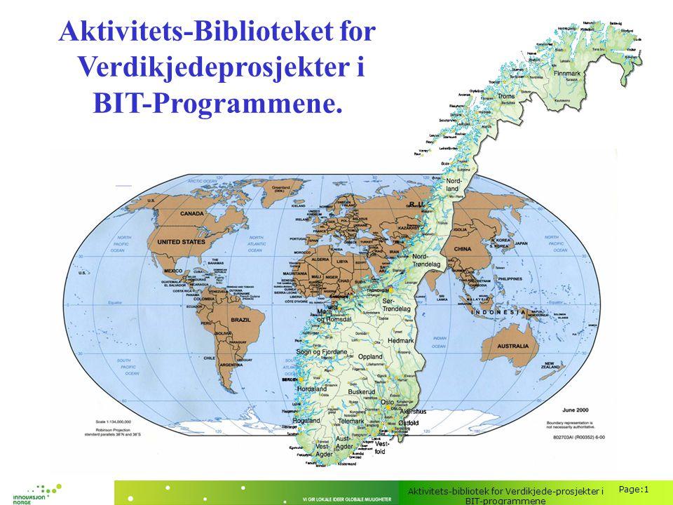 Aktivitets-Biblioteket for Verdikjedeprosjekter i