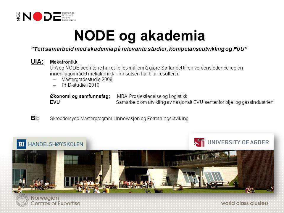 NODE og akademia UiA: Mekatronikk