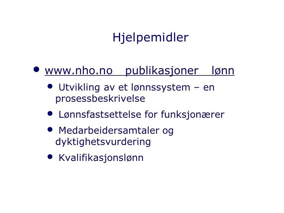 Hjelpemidler www.nho.no publikasjoner lønn