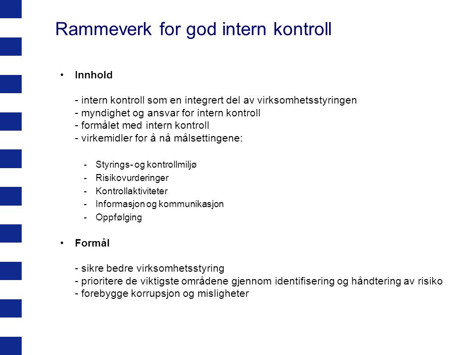 Rammeverk for god intern kontroll