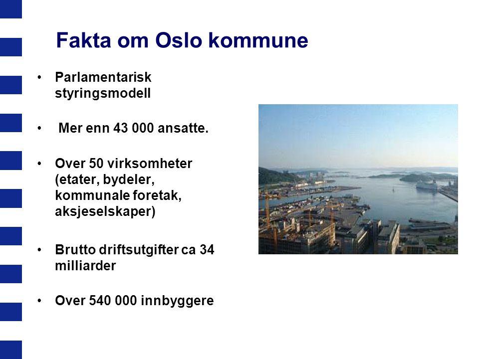 Fakta om Oslo kommune Parlamentarisk styringsmodell
