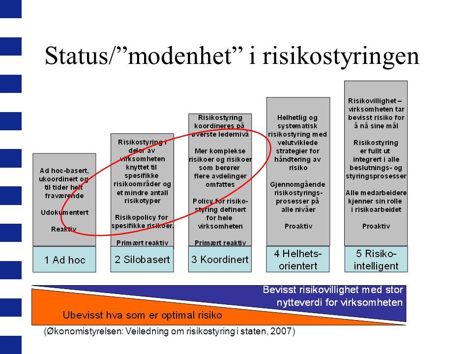 Status/ modenhet i risikostyringen