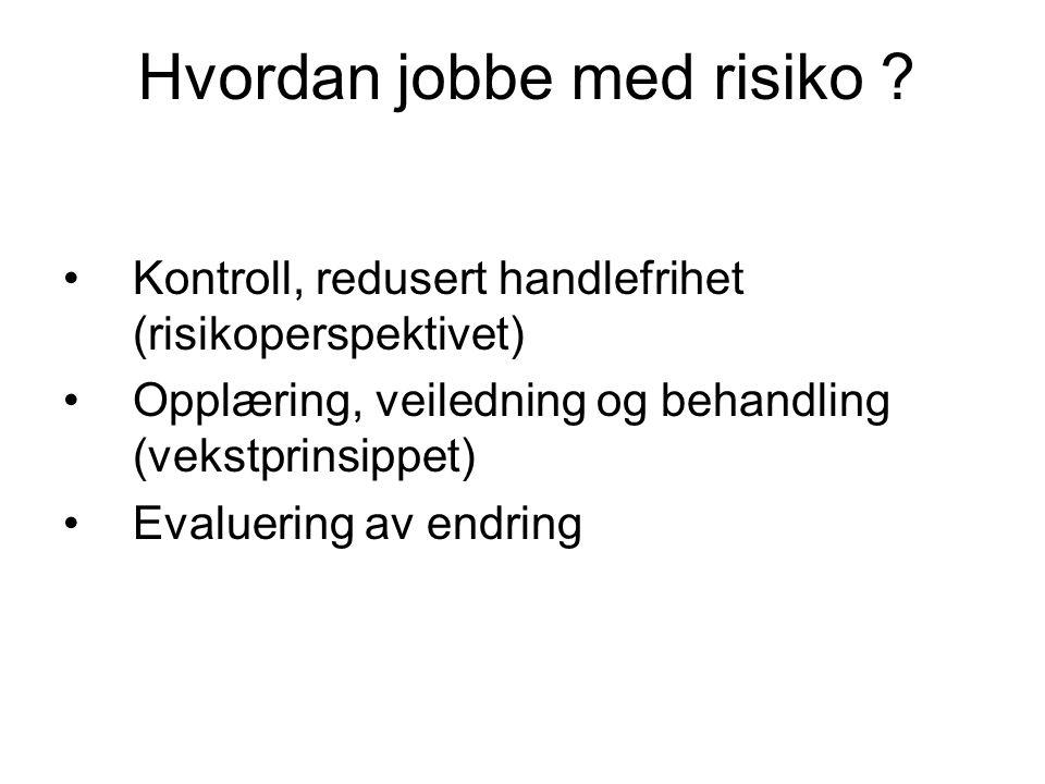 Hvordan jobbe med risiko