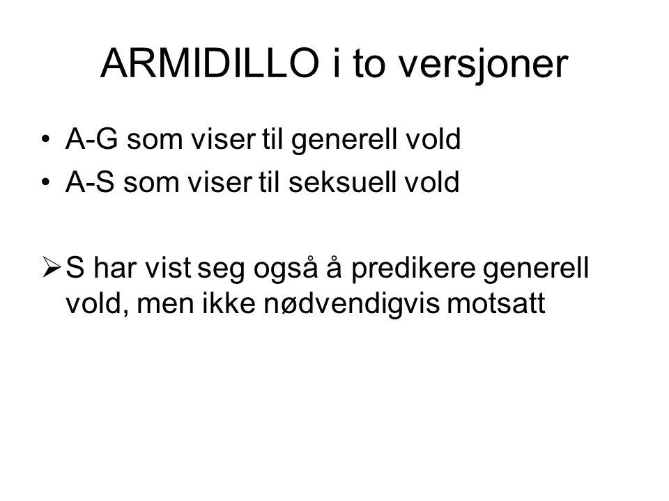 ARMIDILLO i to versjoner