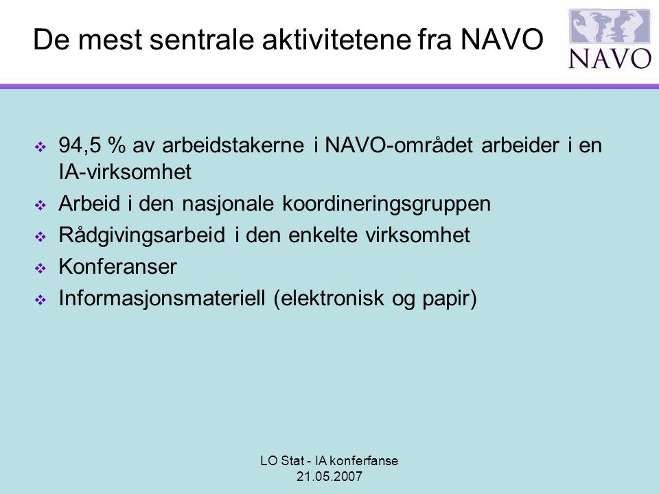De mest sentrale aktivitetene fra NAVO
