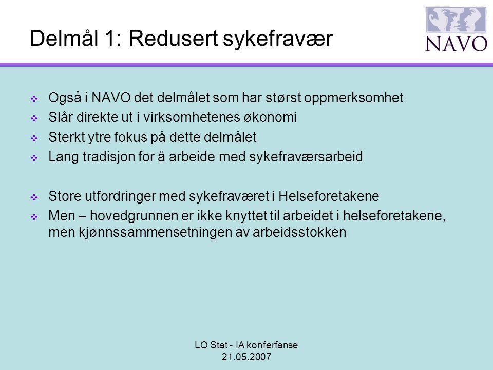 Delmål 1: Redusert sykefravær
