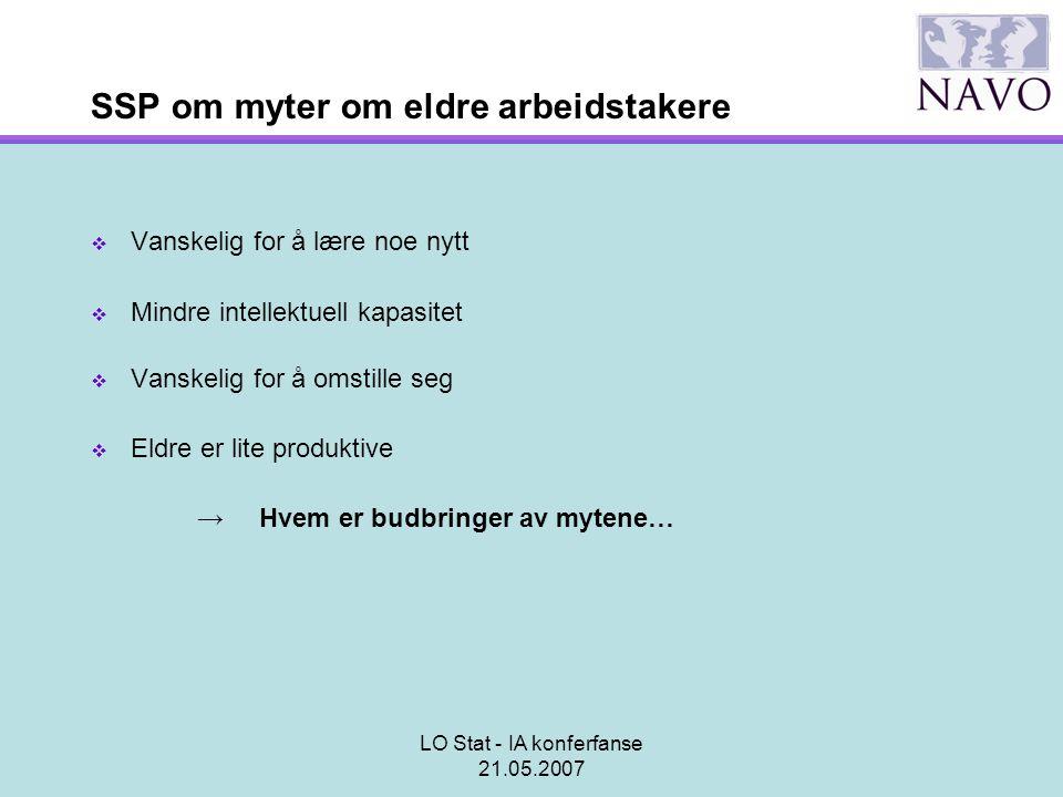 SSP om myter om eldre arbeidstakere