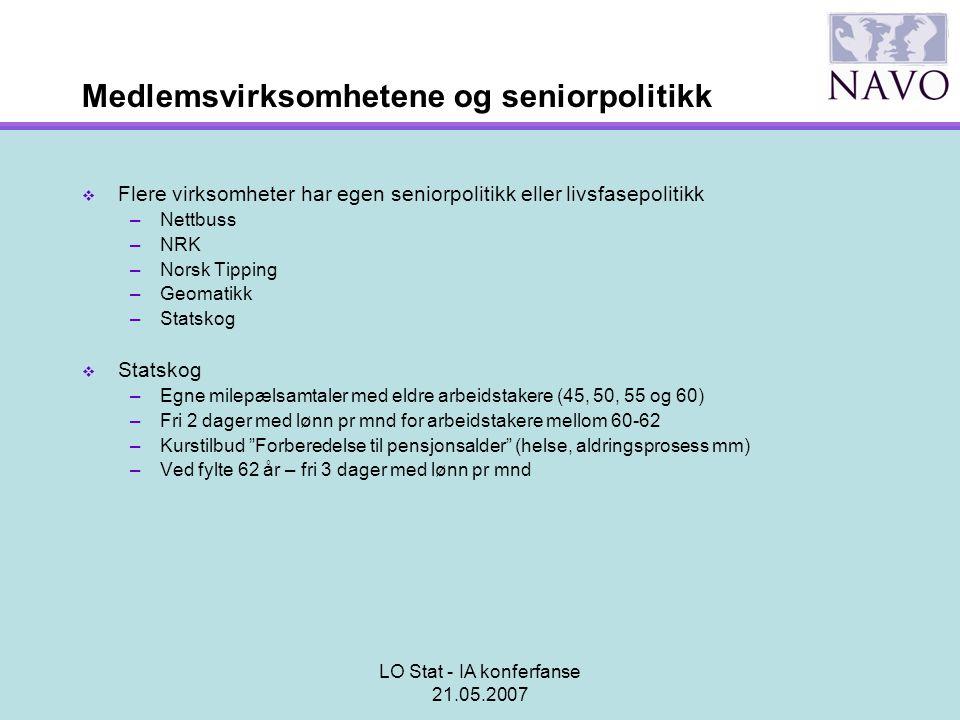 Medlemsvirksomhetene og seniorpolitikk