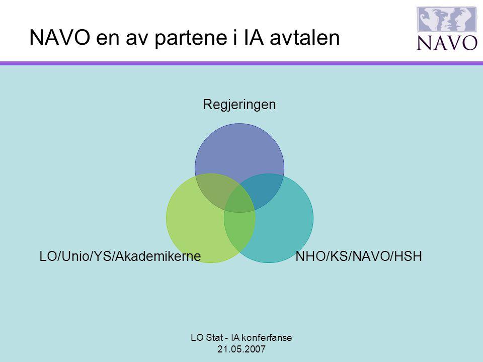 NAVO en av partene i IA avtalen