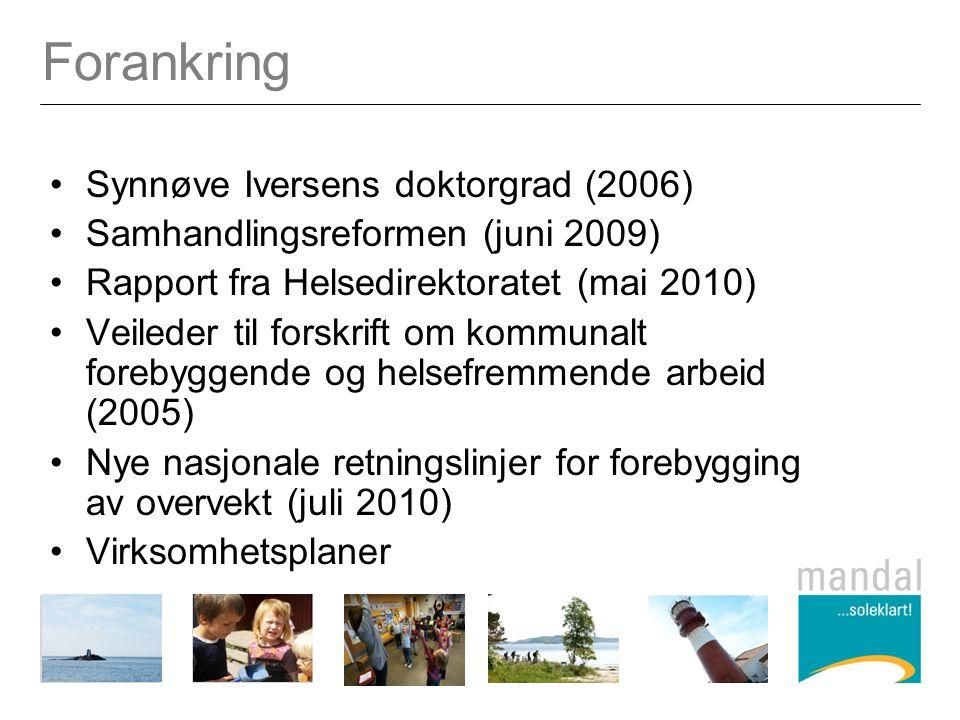 Forankring Synnøve Iversens doktorgrad (2006)