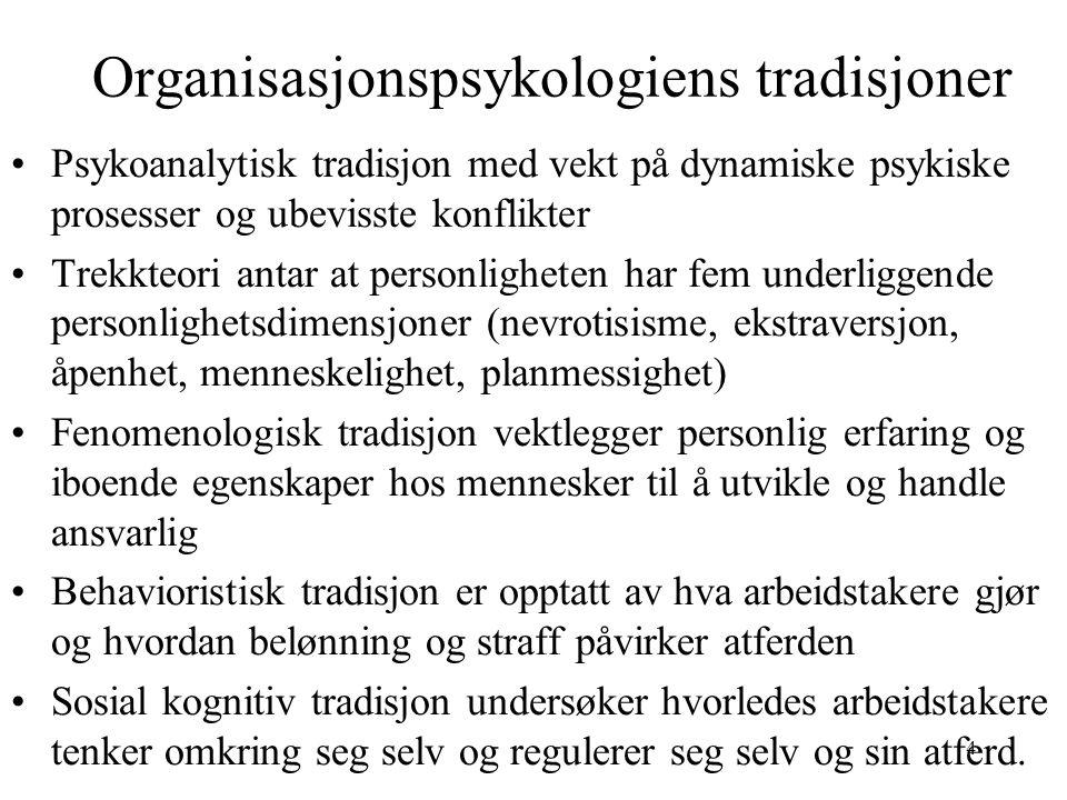 Organisasjonspsykologiens tradisjoner