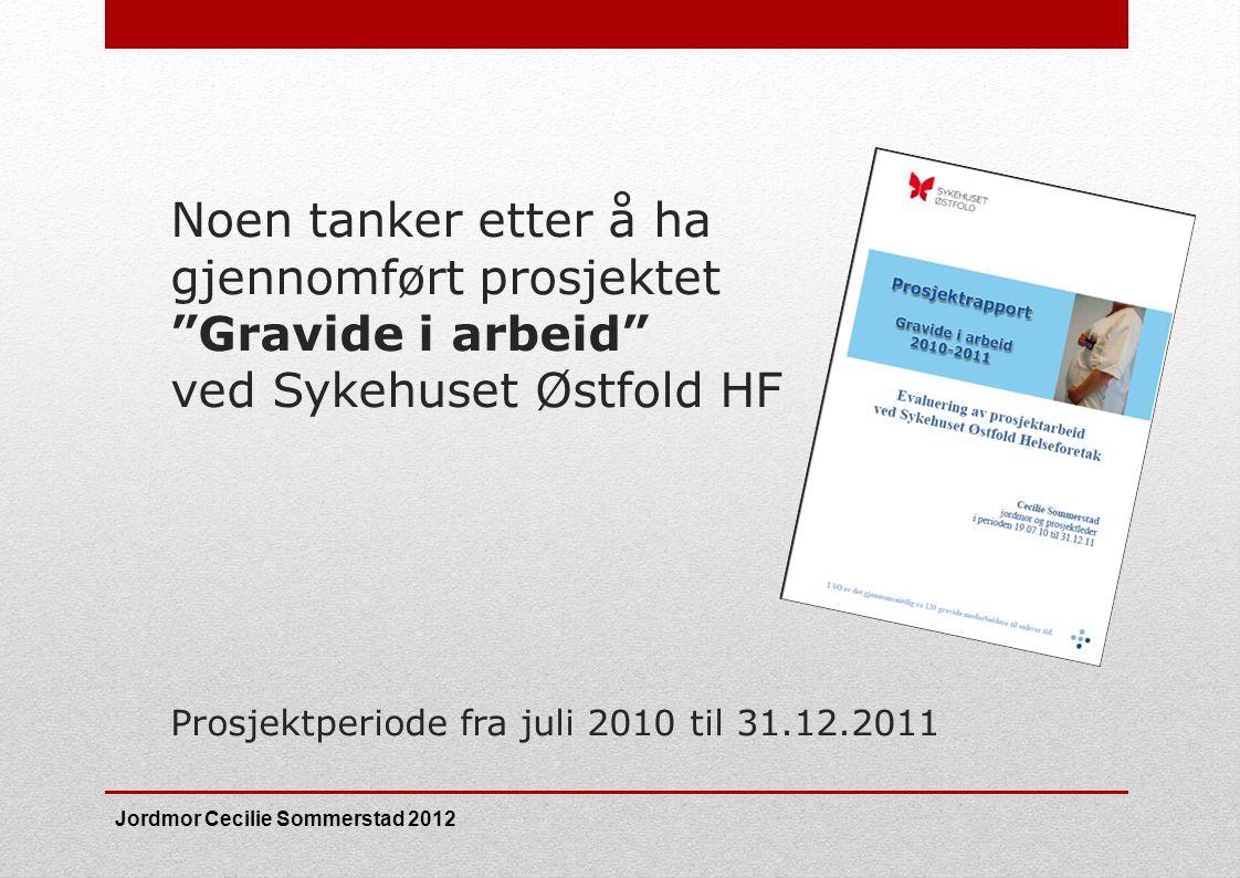 Noen tanker etter å ha gjennomført prosjektet Gravide i arbeid ved Sykehuset Østfold HF Prosjektperiode fra juli 2010 til 31.12.2011