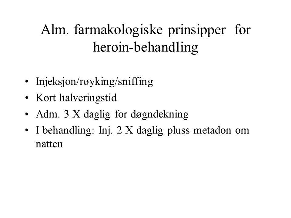 Alm. farmakologiske prinsipper for heroin-behandling