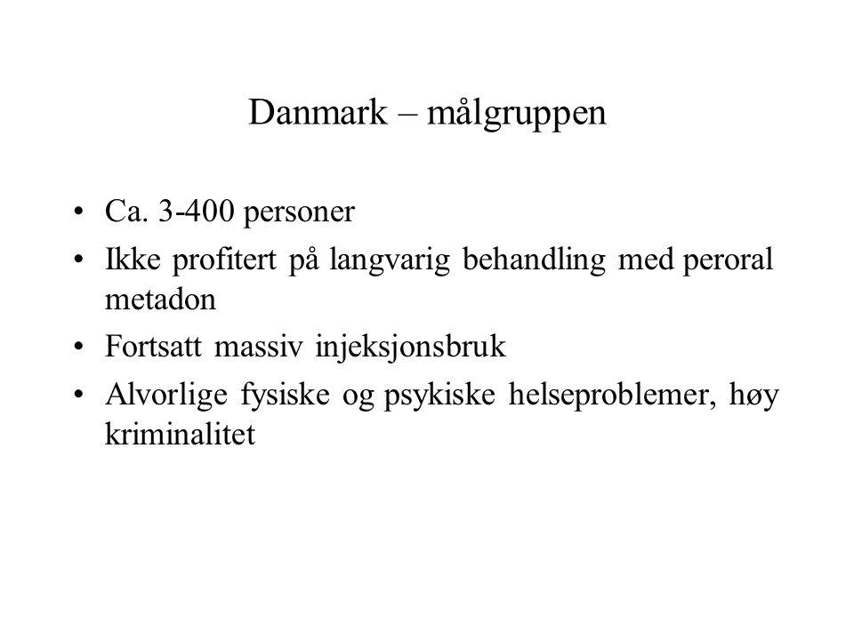 Danmark – målgruppen Ca. 3-400 personer