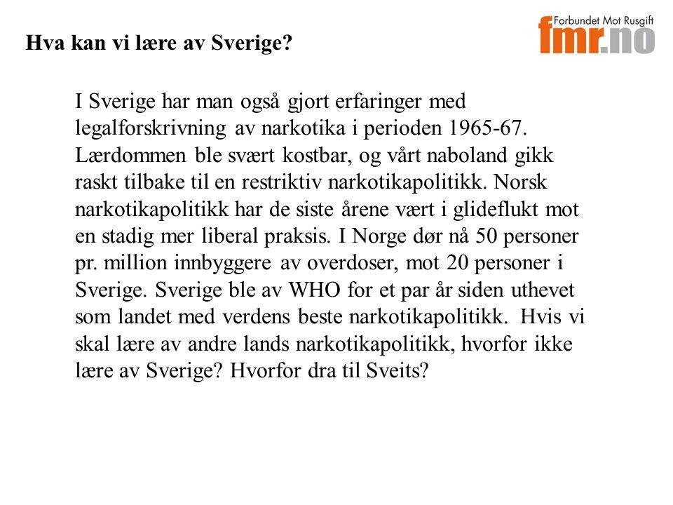 Hva kan vi lære av Sverige