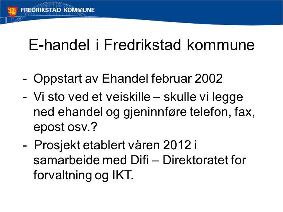 E-handel i Fredrikstad kommune