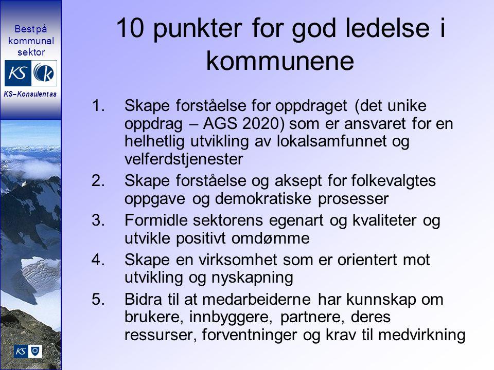 10 punkter for god ledelse i kommunene
