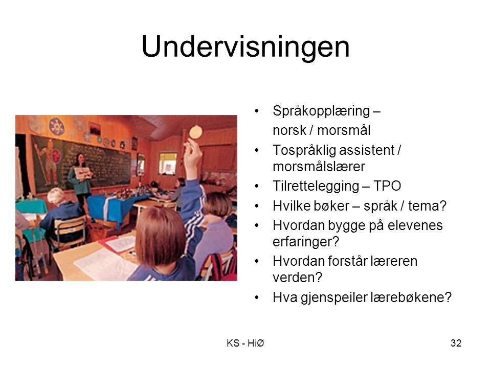 Undervisningen Språkopplæring – norsk / morsmål