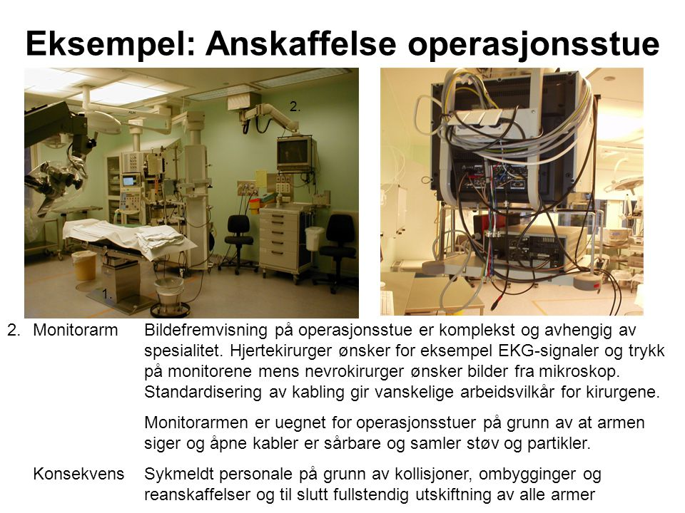 Eksempel: Anskaffelse operasjonsstue