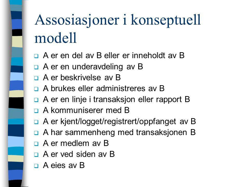 Assosiasjoner i konseptuell modell
