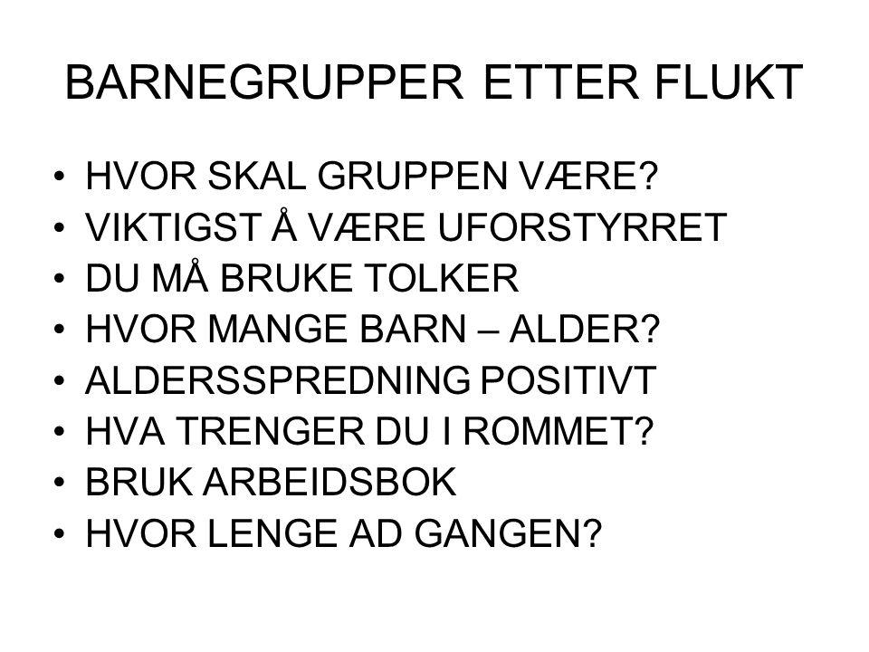 BARNEGRUPPER ETTER FLUKT