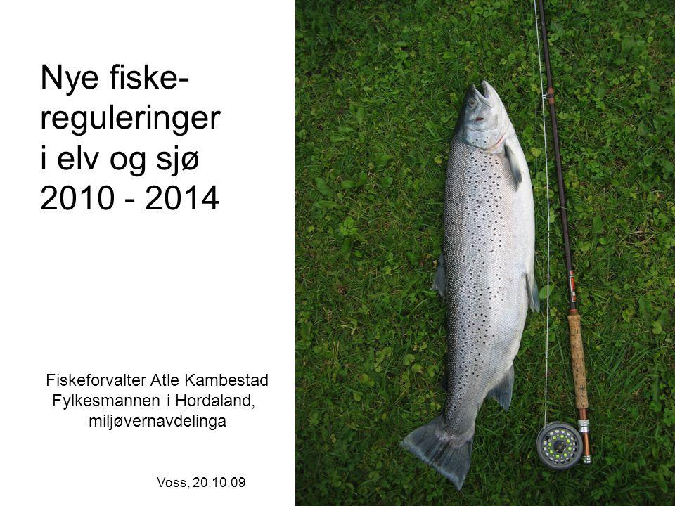 Nye fiske- reguleringer i elv og sjø 2010 - 2014