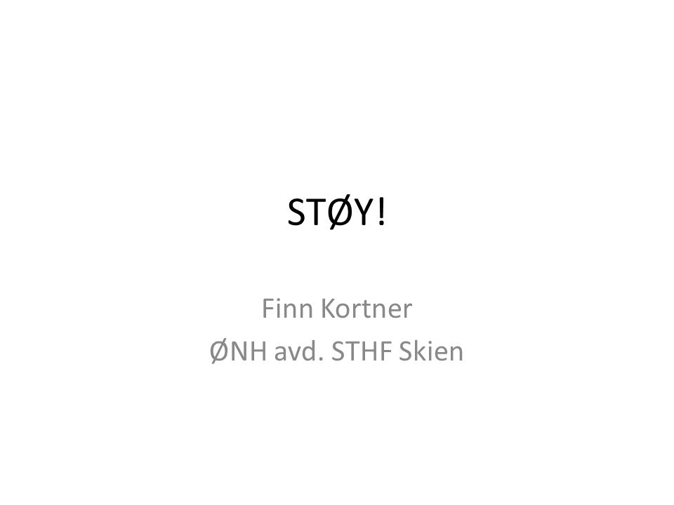 Finn Kortner ØNH avd. STHF Skien