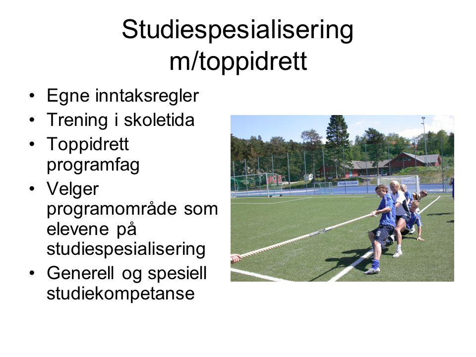 Studiespesialisering m/toppidrett