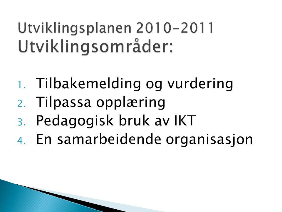 Utviklingsplanen 2010-2011 Utviklingsområder: