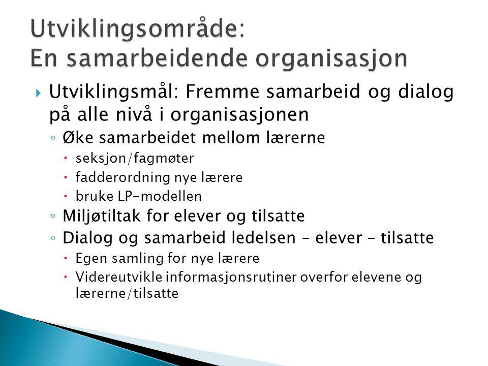 Utviklingsområde: En samarbeidende organisasjon