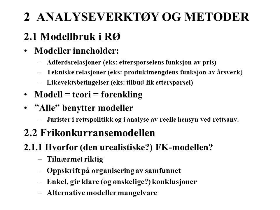 2 ANALYSEVERKTØY OG METODER