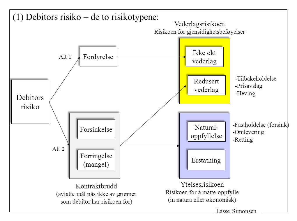 (1) Debitors risiko – de to risikotypene: