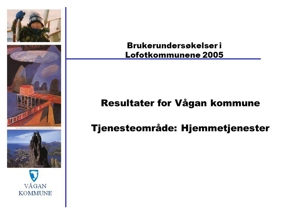 Brukerundersøkelser i Lofotkommunene 2005