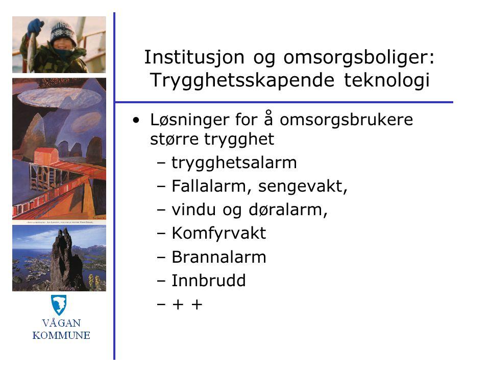 Institusjon og omsorgsboliger: Trygghetsskapende teknologi